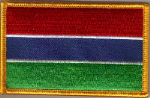 Gambia Embroidered Flag Patch, style 08.